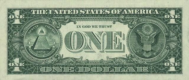 1ドル裏面