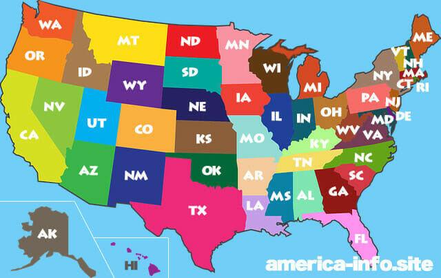 アメリカ州マップ